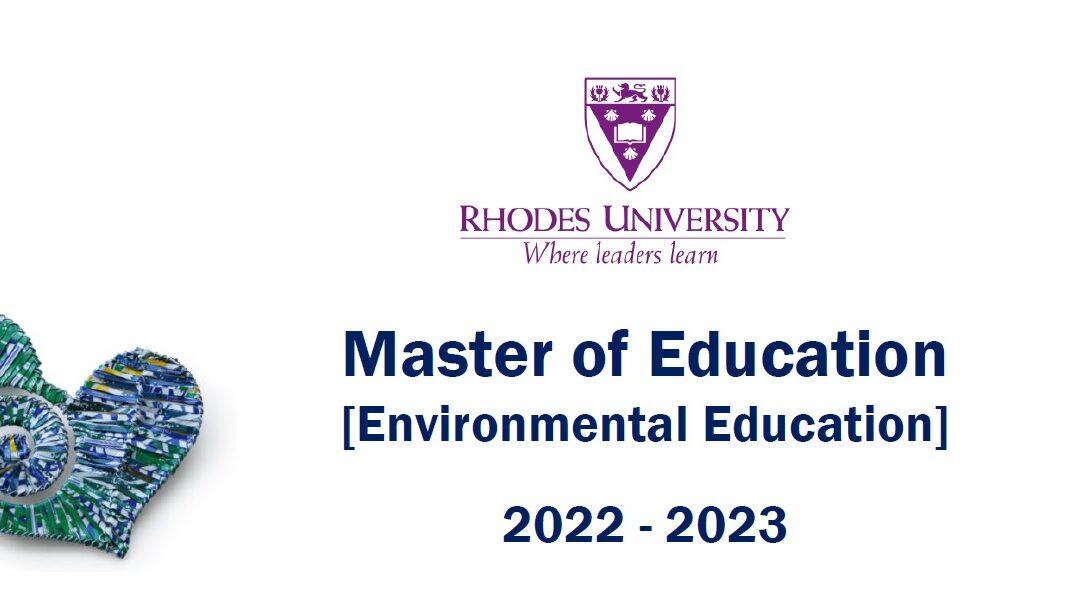 Master of Education [Environmental Education] 2022 – 2023